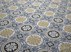 Tiena Blue Tile bathroom tile