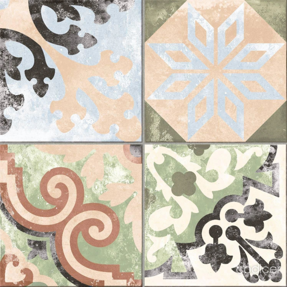 Borne Multicolour Tile bathroom tile