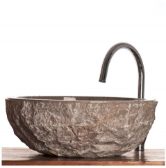 River Rock Granite Bathroom Sink Stone Wash Basin Small