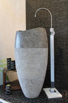 Masso di pietra Stone Marble Basin - Silver