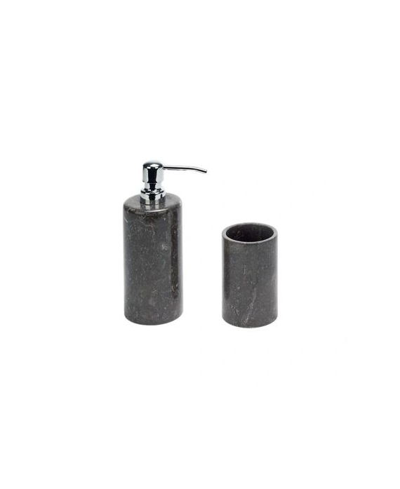 Nero Marble Bathroom Dispenser Pair
