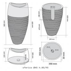 Masso di pietra Stone Marble Basin - Nero