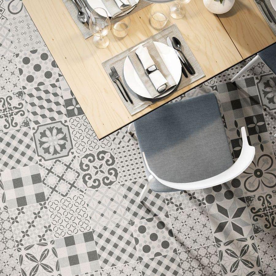 Boreal Mix Grey bathroom Tile