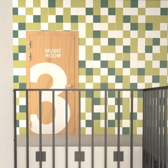 Rainbow Pistacho 150 x 150 mm Tile