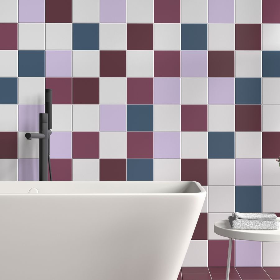 Rainbow Magenta 150 x 150 mm Tile