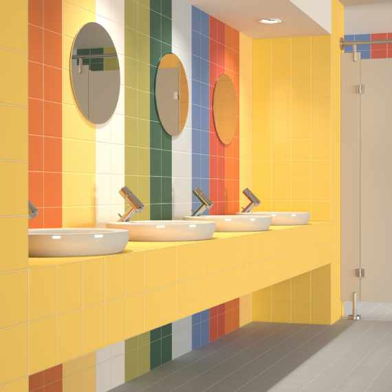 Rainbow Ambar 150 x 150 mm Tile