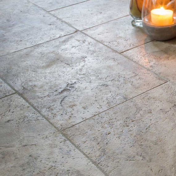silver tumbled travertine natural stone grey