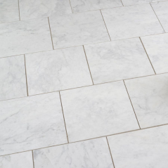 Carrara Bianco Honed Marble Tile
