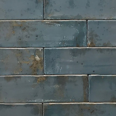 Handmade Dishevelled Oil Slick Wall Tile