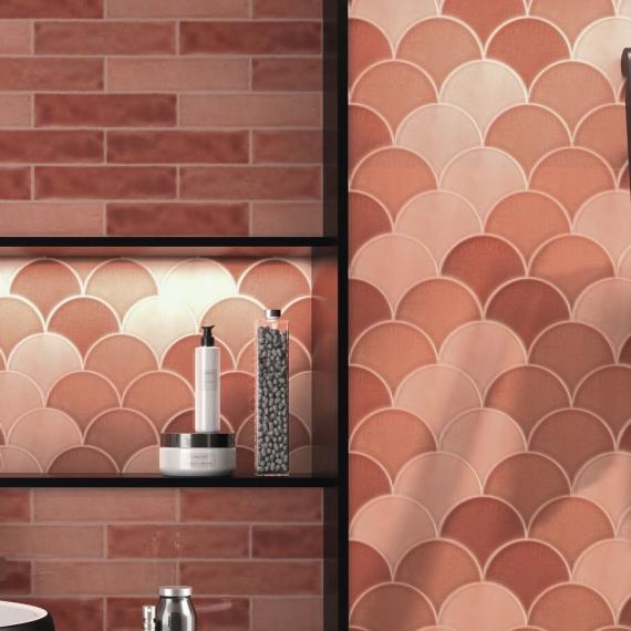 Handmade Crackle Harissa Wall Tile bathroom tiles
