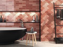 Handmade Crackle Harissa Wall Tile bathroom wall tiles