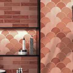 Handmade Crackle Harissa Escamas Wall Tile
