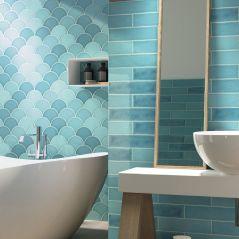Handmade Crackle Turquoise Wall Tile