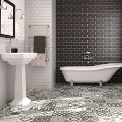 Metro Black Wall Tile Metro Black Wall Tile For bathrooms and kitchens