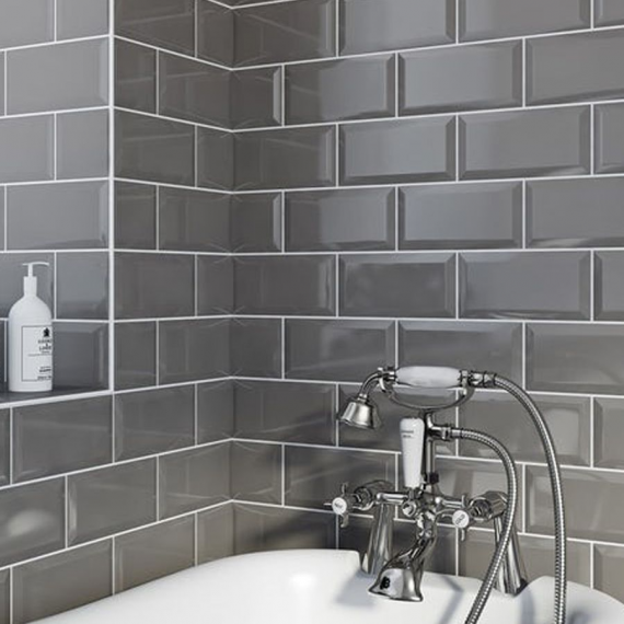 Metro Dark Grey Wall Tile
