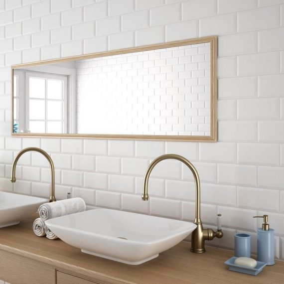 Metro Dark White Wall Tile