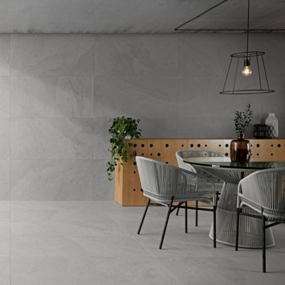 Annapurna Gris Wall and Floor Tile 1 Large tile
