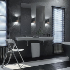 Avenue Negro and blanco and gris Wall and Floor Tile