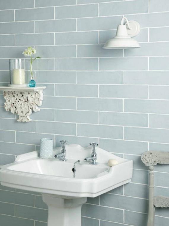 Handmade Duck Egg Ceramic Wall 75x300mm Kitchen tiles bathroom wall tiles