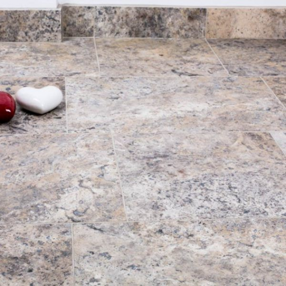 ANATOLIAN GREY HONED TRAVERTINE TILE