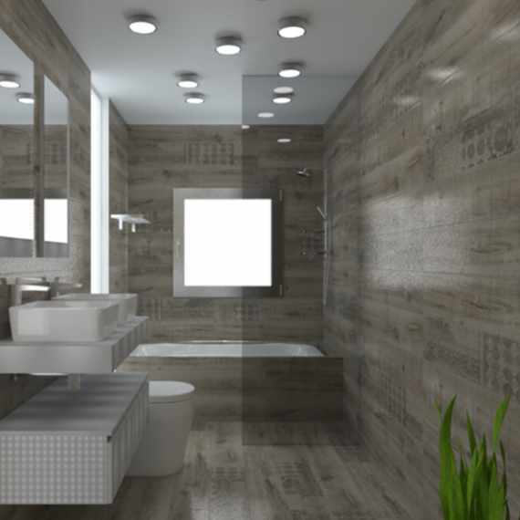 Hardwood Gris Wall and Floor Tile