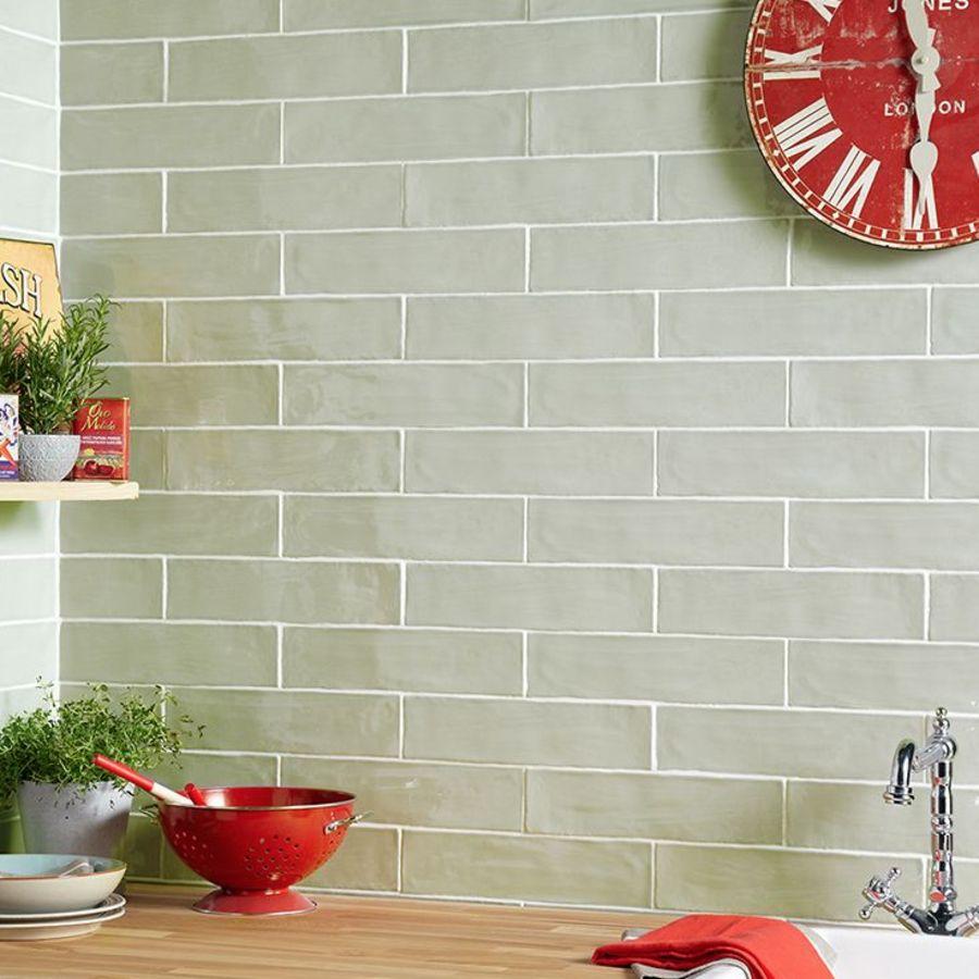 Handmade Sage Wall Tile
