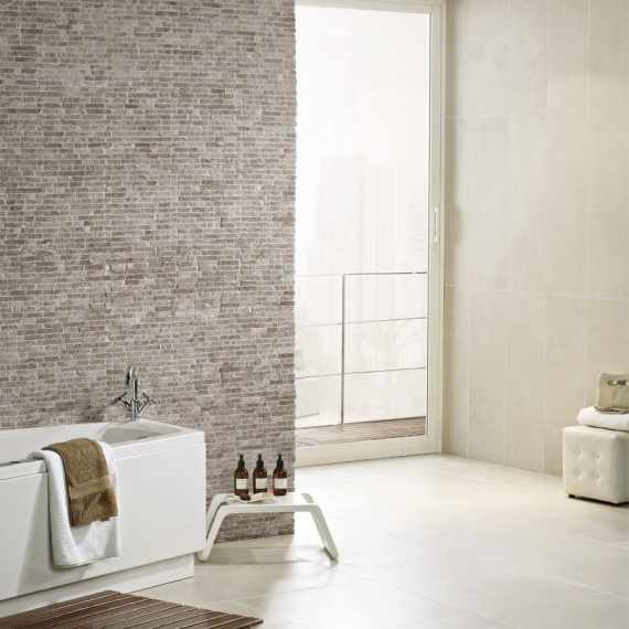 Intro Crema Base Wall Tile by Saloni Tiles