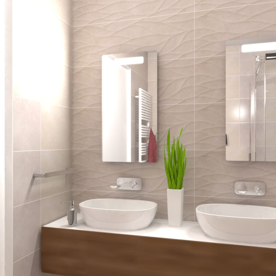 Intro Motion Crema Wall Tile by Saloni Tiles