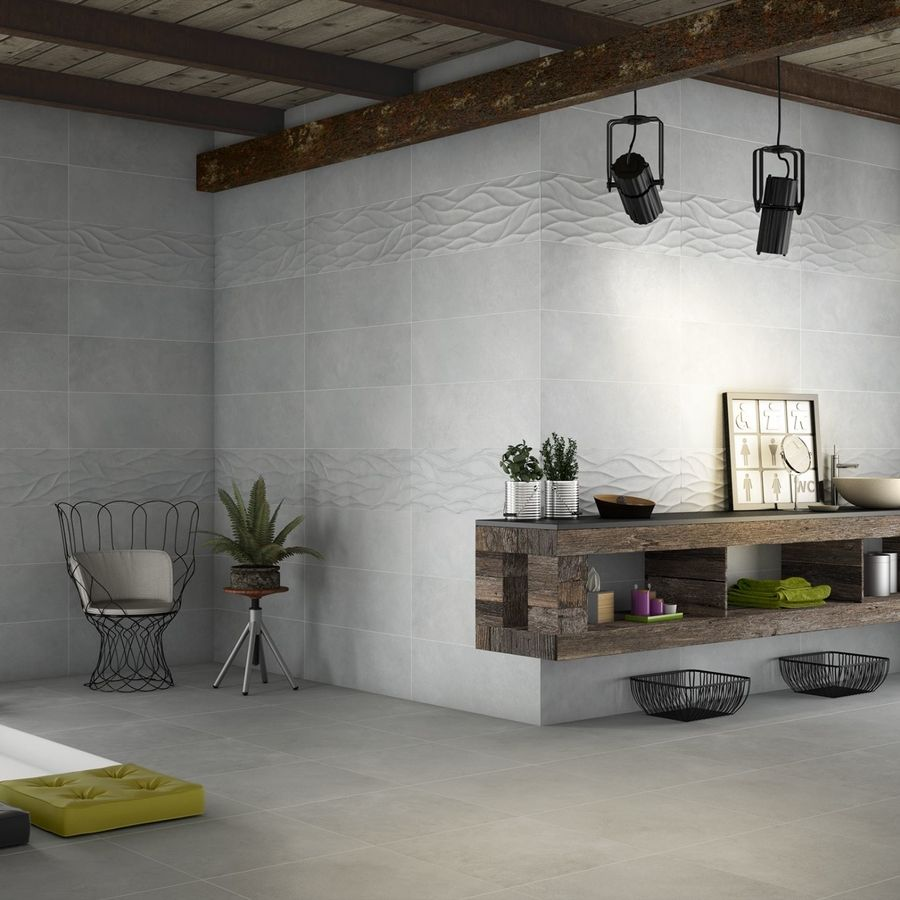 Intro Gris Base Wall Tile by Saloni Tiles