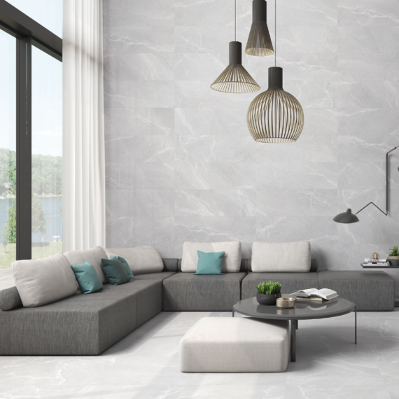 Byblos Gris Lappato Floor and Wall Tile by Saloni