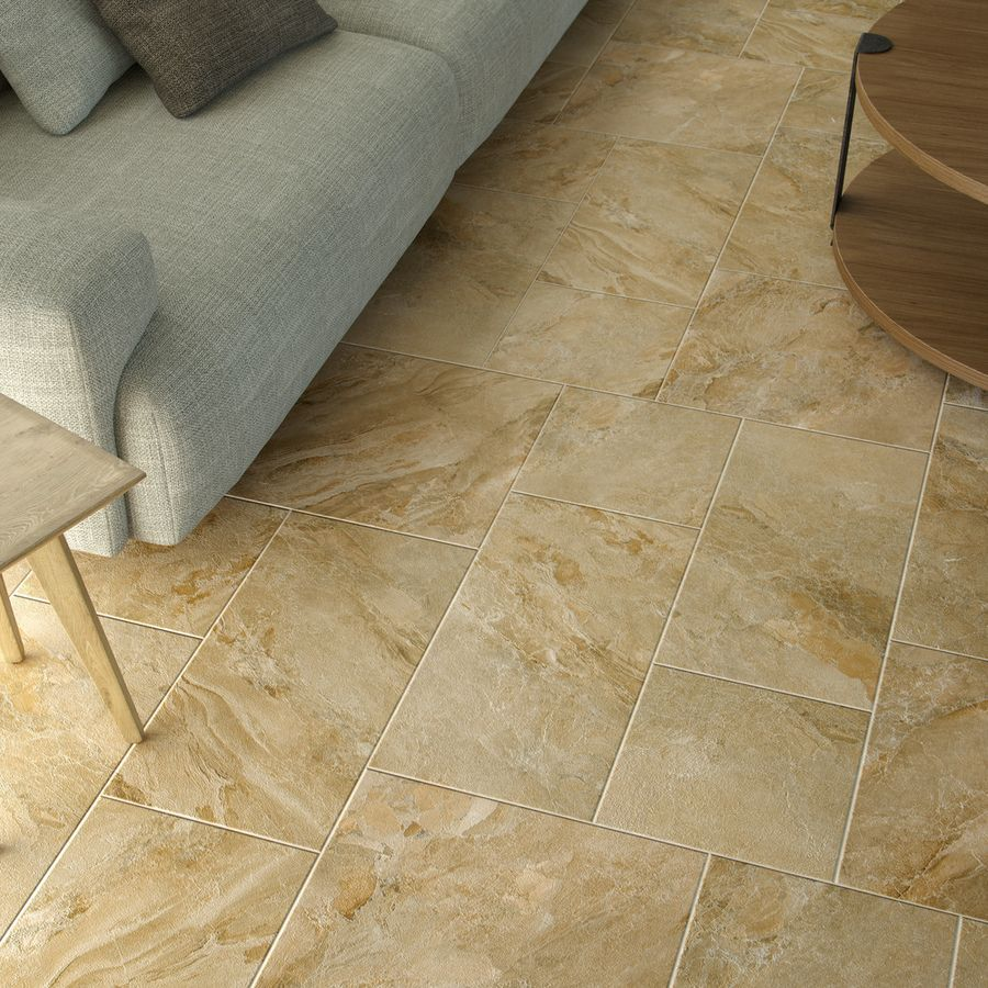 Icaria Ocre Wall And Floor Base Tile by Grespania Tiles