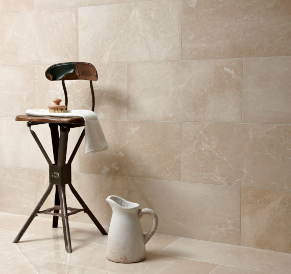 Botticino Polished Marble Tile