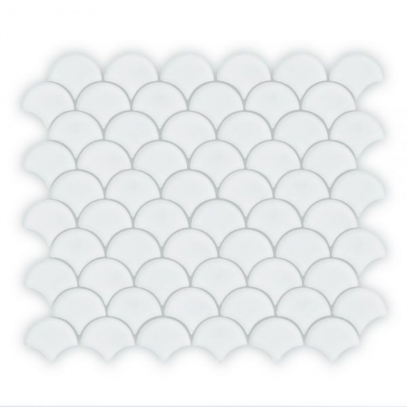 Auroras Fan - White Mosaic Tile