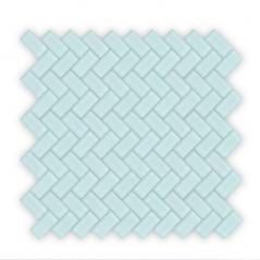 Auroras Herringbone - Green Mosaic Tile