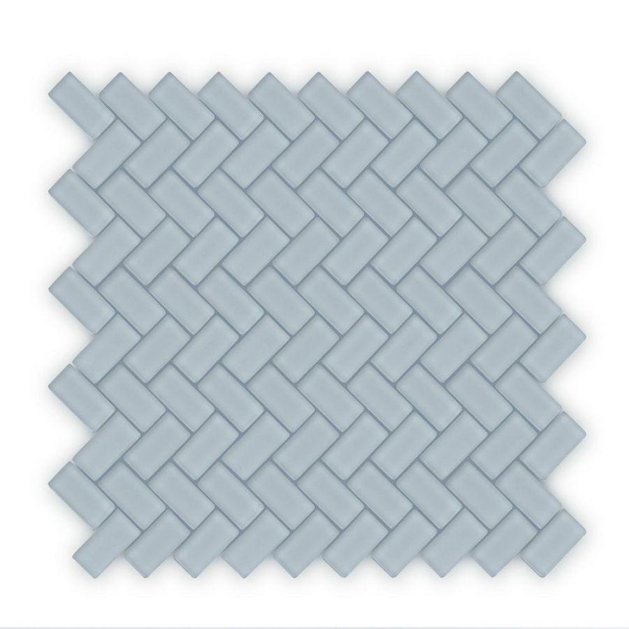 Auroras Herringbone - Grey Mosaic Tile