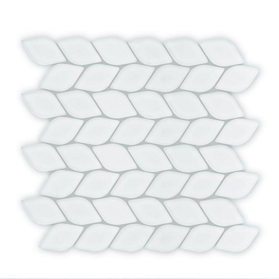 Auroras Herringbone - White Mosaic Tile