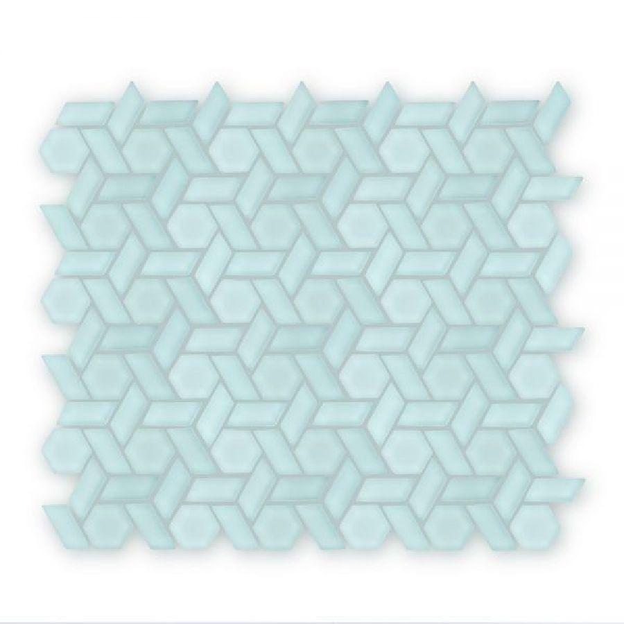Auroras Woven - Green Mosaic Tile