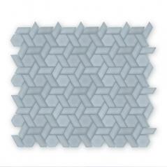 Auroras Woven - Grey Mosaic Tile