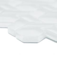 Auroras Woven - White Mosaic Tile