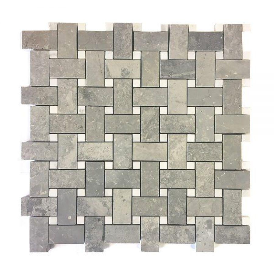 Stone Basket Weave Marble Mosaic Tile