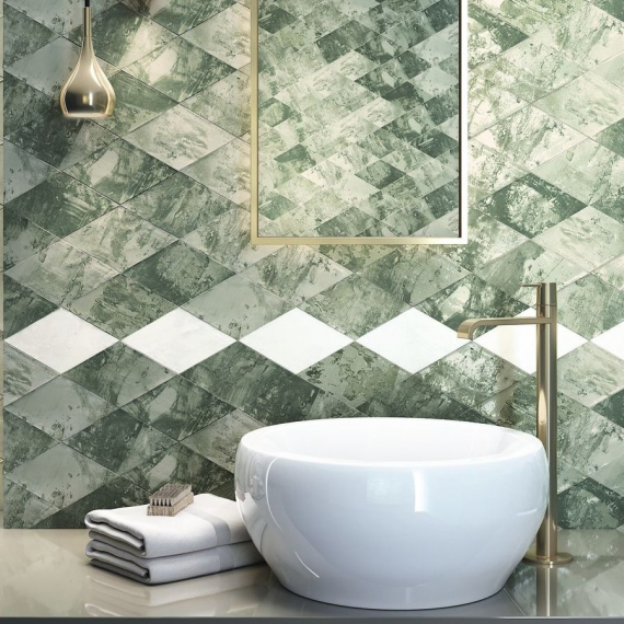 Savannah Diamond Green Wall Tile