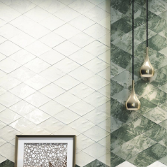 Savannah Diamond White Wall Tile