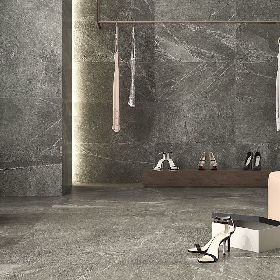 Ardesia Fumo Floor and Wall Tile by Saloni