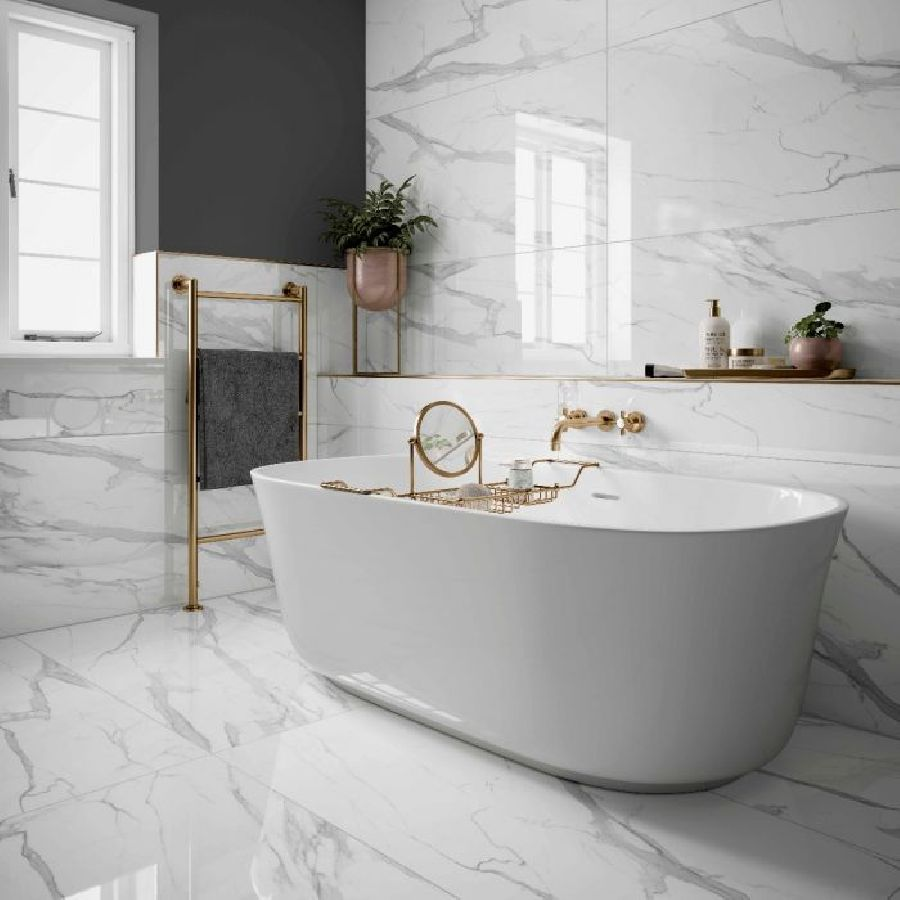 White Marble Bathroom Wall Tiles Image Of Bathroom And Closet