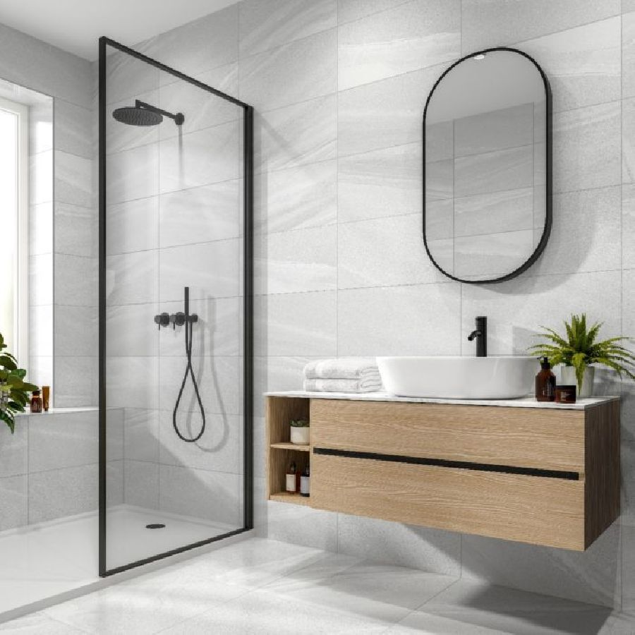 Andern Light Grey Floor and Wall Tile