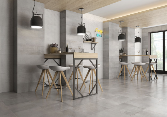 Saloni INDUSTRIAL Acero Floor Tile