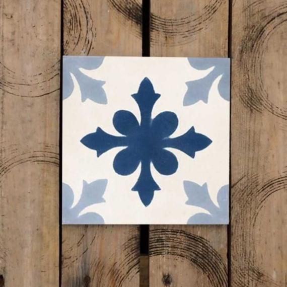 Flores Azules Cement Encaustic Tiles 20 x 20 cm