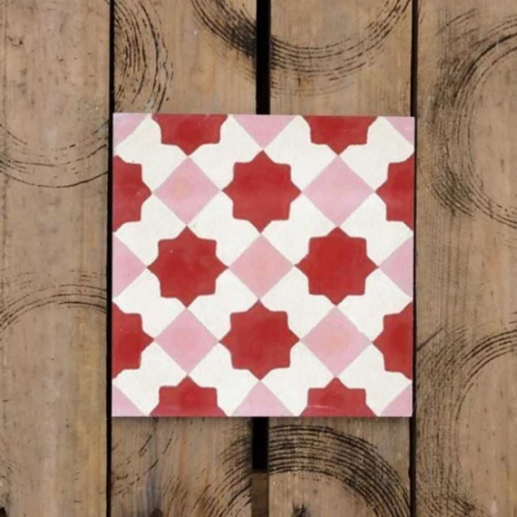 Rosado Cement Encaustic Tiles 20 x 20 cm