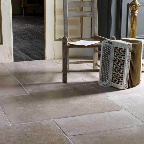 Dijon 1st GRADE Tumbled Limestone Tile