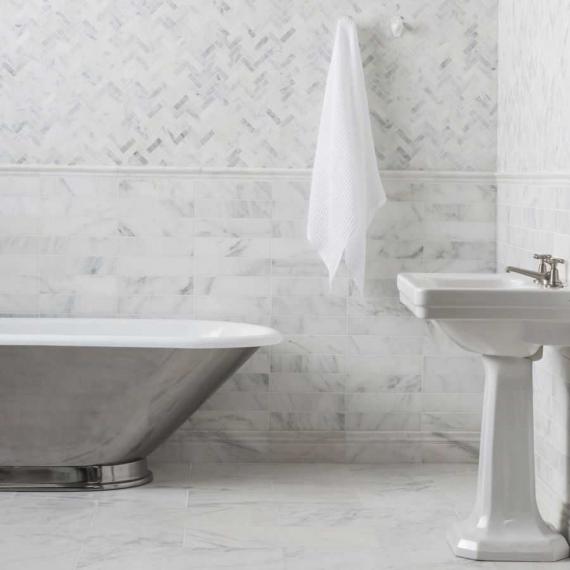Hampton White Marble Marble Tile